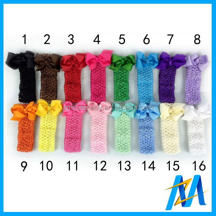 Bebek 1.5 inç tığ bandı yay iyi elastik headbands bebek örme bandı