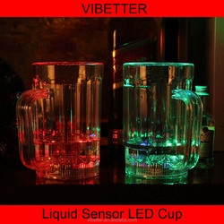 2015 Hot Promotional Barware Flashing Plastic Shot LED Glass, Multicolor Light Up Cup, Drinking Led Cup