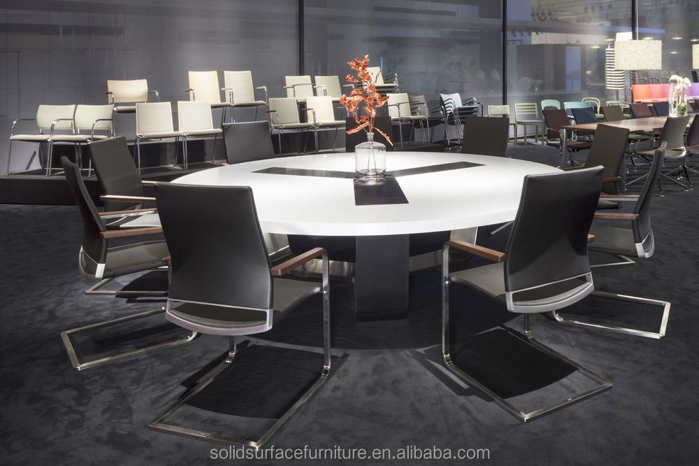Office Conference Desk Office Meeting Table Round Meeting Table - 60 inch round conference table