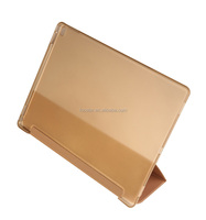 New Arrival Ultra Thin Tri-folding Tablet PU Leather Smart Cover for iPad Pro