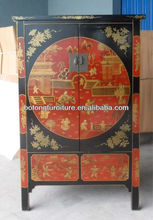 Antique furniture painted Shanxi wardrobe