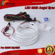 7000k Xenon White led smd angel eyes halo rings kit for bmw x5 e53