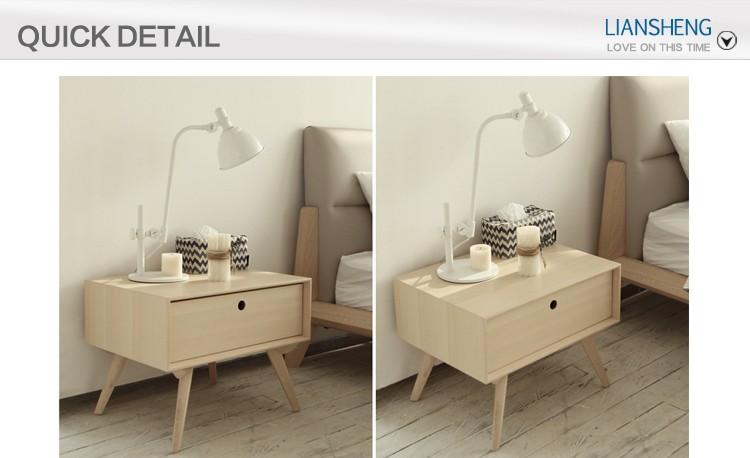 북유럽 스타일의 현대 침실 가구 독특한 스탠드, 간단한 나무 밤 ...