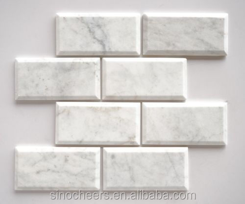3x6 marble subway tile