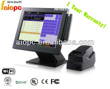 15 inch restaurant pos system pos terminal with printer