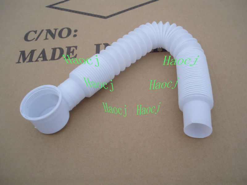 Bathtub Drain Cleaning Flexible Pipe/bathroom Flexible Drain Plastic ...