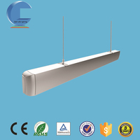 50W 1200mm contemporary led hanging led chandelier for restaurant