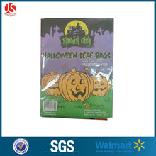 "3 pack of halloween pumpkin leaf bag with 2 sizes.24""*30"".36""*48"""
