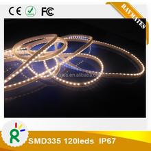 chrismas light 12V 24V side lighting waterproof outdoor white pcb smd335 car flexible strip light CE RoHS