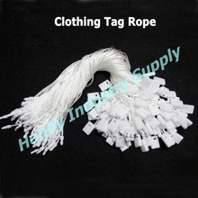 2015 Worth Buy White Nylon Snap Lock Clothing Tag Rope