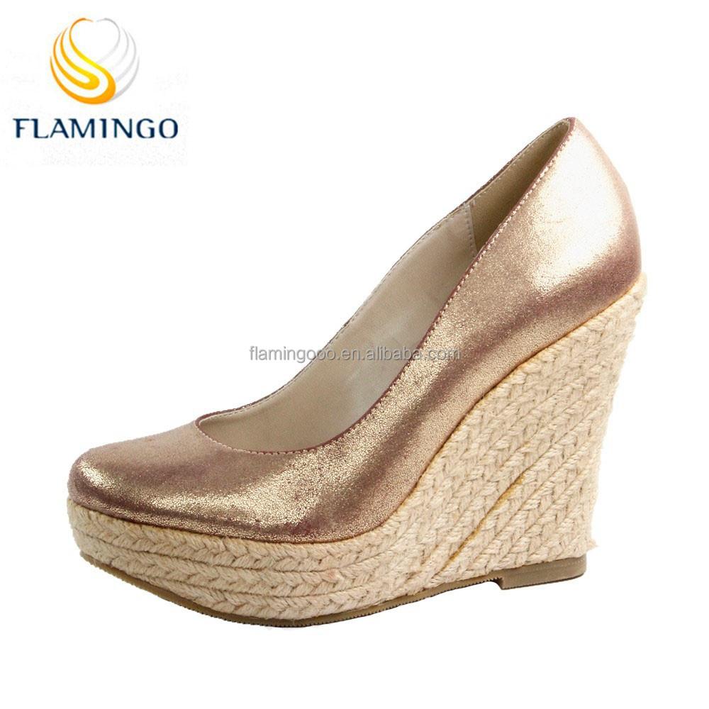 flamingo 2015 odm oem wedge shoes large size
