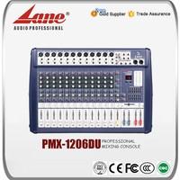 Lane 12 channel audio karaoke mixer amplifier PMX - 1206DU