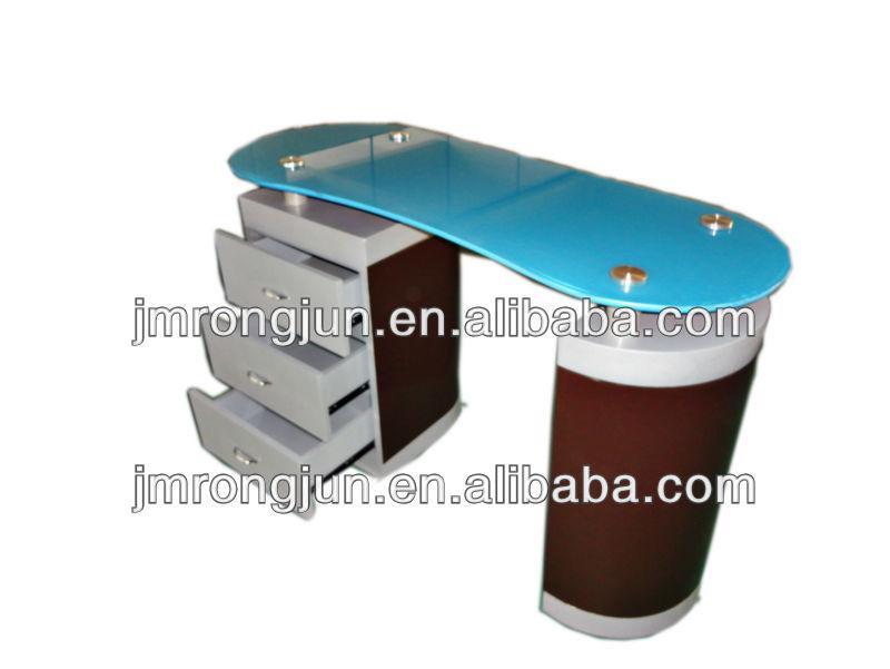 nouveau design table en verre top multi purpose spa salon de beaut bureau manucure table. Black Bedroom Furniture Sets. Home Design Ideas