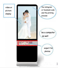 42 Inch LCD interactive advertising machine photo booth interactive photo printer