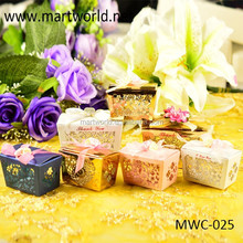 latest various colors butterfly shaped wedding favor, small gift boxes for sale(MWC-025)