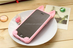 2015 3D cute Ear Cat Case For IPhone 5s 5 back cover