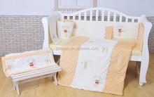 applique embroidery baby crib bedding set soft velour baby bedding nursery bedding Pumpkin & Popsicle