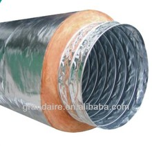 fibroso de vidrio de aluminio con aislamiento del conducto flexible
