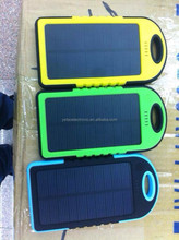 New power bank led torch light portable solar power bank 5000MAH