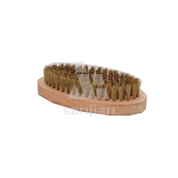2014 the newest Japan style brass 4 row wire brush with wooden handle SJIE3090(cleaning brush,steel wire brush,wire brush)
