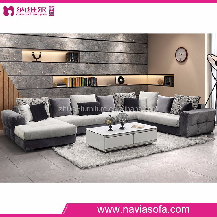 living room sofa furniture modern chaise lounge fabric gray sofa with chaise lounge and blue velvet accent chairs