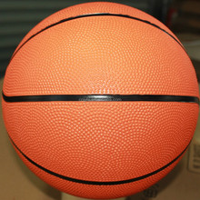 plain orange rubber exercises basketball