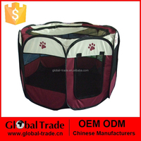 8 Octagonal Red Dark Green Pet Fence Dog Kennel Pet Fence Puppy Soft Playpen Exercise Pen Folding Crate 450077