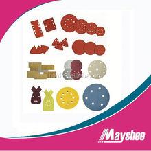 abrasive polishing block for velcro disc