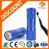 AAA Battery Colorful 9 LED Flashlight Aluminum Ultra Bright Mini Led Flashlight