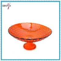 High quality red glass plate serving platters cup cake stands western wedding