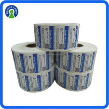 Various Materials Packaged Permanent Adhesive Label Sticker Roll For Product
