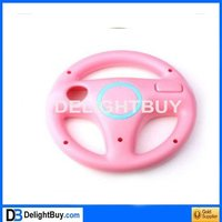 Racing for mario game steering Wheel Controller for Wii (pink)