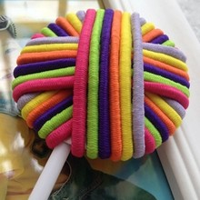 Colorful Lollipop Elastic Hair Band With Ribbon Bow