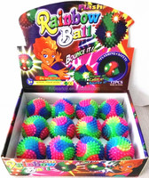 safety rubber spike ball massage ball flashing bounce ball