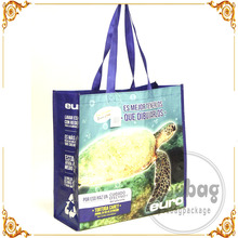 China manufacturer custom printed shopping bopp laminated recycled pp woven bag