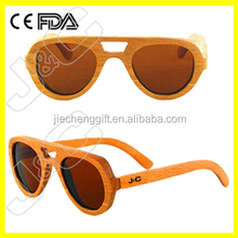 High quality promotional wood bamboo silhouette sunglasses
