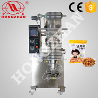 Zhejiang wenzhou Hongzhan HP100G snacks biscuits sugar seeds automatic juice powder four-side sealing packing machine