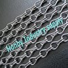 fancy double hook linked silver anodizing aluminum door curtain