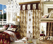 Luxury embroidered pattern window curtain bedroom curtain