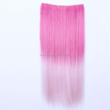Harajuku Anime Synthetic Hair Extension Long Straight Clip In Hair Extensions Cosplay Party Colorful Hairpiece