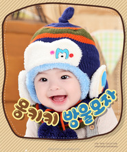 2015 cute winter baby toddlercrochet hat with earflap, comfortable knitted winter hat
