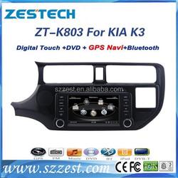 ZESTECH best price Car Sat Navi headunit for KIA RIO Car Sat Navi headunit with GPS,Radio,BT,RDS,3G,V-10disc+factory