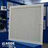 square hinged Half Chevron return air grill with c/w filter for HVAC / ventilation made by China manufacturer