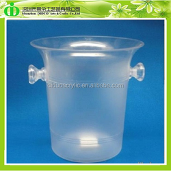 DDI-B002 ISO9001 Chinese Factory Wholesale SGS Non-toxic Test Belvedere Vodka Acrylic Ice Bucket Cooler