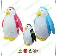 Venta caliente novela regalo para los niños de dibujos animados de pingüinos nombres borrador