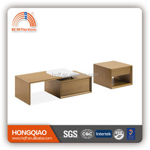 CT-32 ET-32 stainless steel wood modern coffee table