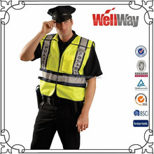 Summer high visibility two tone traffic police reflective vest