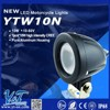 Y&T low price die-cast aluminum motorcycle spot light, 6000-7000K 10w powerful motorcycle led flood light from China