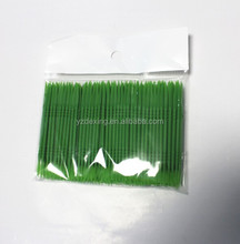 Opp bag green plastic toothpick manufacture