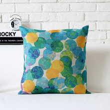 Hot sale bright color polyester sublimation printed cushion pillow
